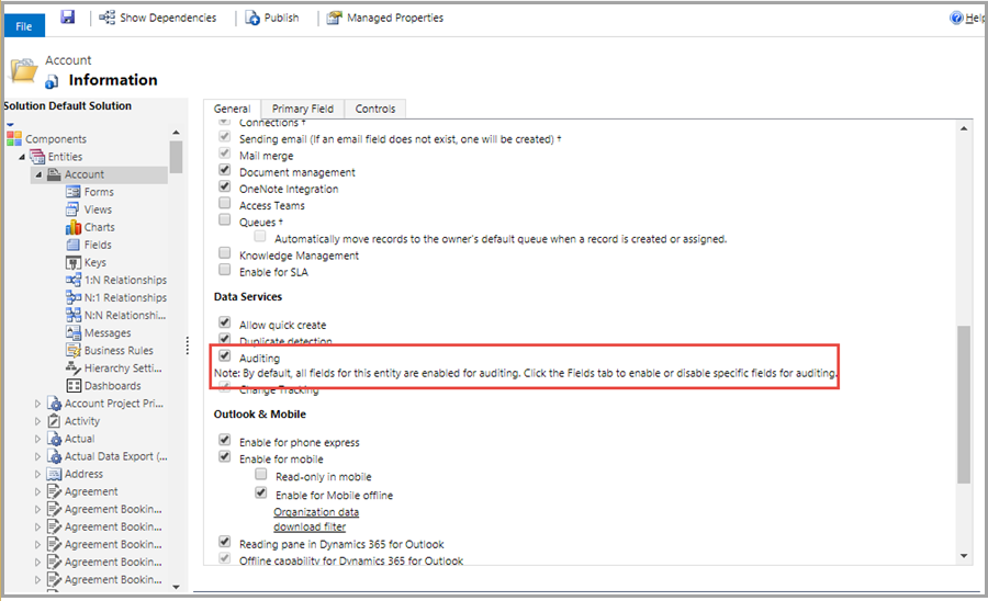 D365 Configure Entity Export To Database