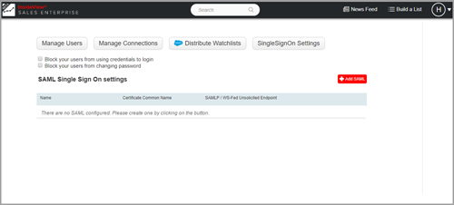 Configuring SAML Settings for InsideView in Your CRM