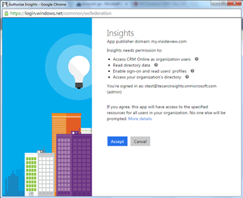 Enabling OAuth for Insights and Insights Enterprise in Microsoft