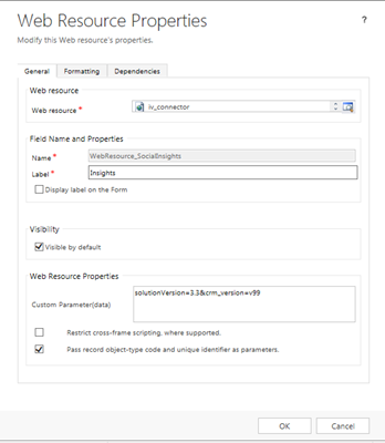 2015 Online : Adding InsideView 3 2 to MS Dynamics CRM Custom Forms